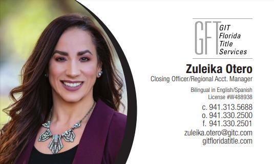 Zuleika Business Card