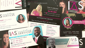IAS marketing services business cards